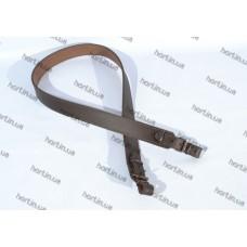 Ремень ружейный прямой коричневый кожаный